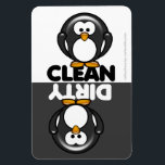 "Cute Penguin Dishwasher Magnet<br><div class=""desc"">Cute cartoon penguin clean/dirty dishwasher magnet  PLEASE NOTE this design was created for the large magnet only</div>"
