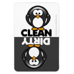Cute Penguin Dishwasher Magnet<br><div class='desc'>Cute cartoon penguin clean/dirty dishwasher magnet  PLEASE NOTE this design was created for the large magnet only</div>