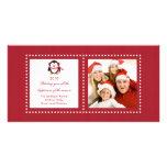 Cute Penguin Family Christmas Photo Card