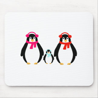Cute Penguin Family Mouse Pad
