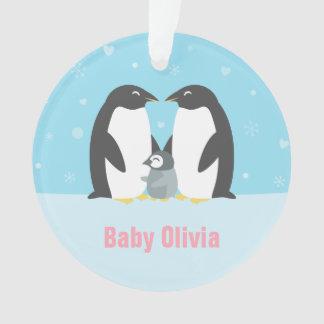 Cute Penguin Family Nursery Room Decor Ornament