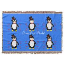 Cute Penguin Groom Wedding  Throw Blanket