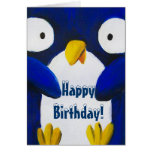 cute penguin happy birthday greeting cards