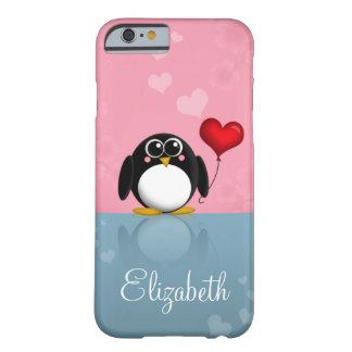 Cute Penguin Heart Balloon iPhone 6 case