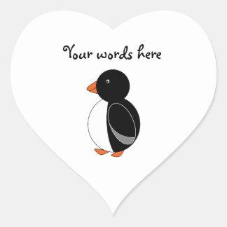 Cute penguin heart sticker