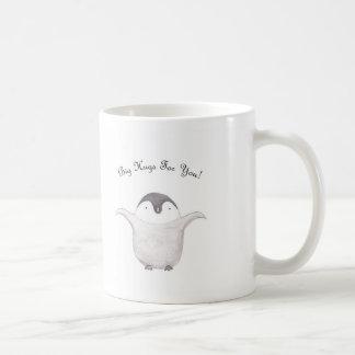 Cute Penguin Hug Mug Cup