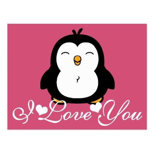 Cute Penguin I Love You I Love You Penguin Xoloitzcuintli