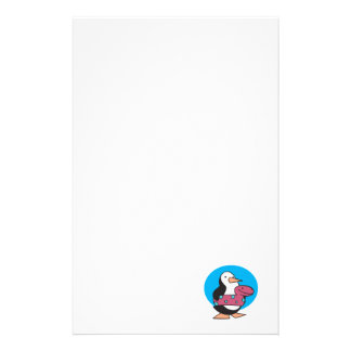 cute penguin in swimmy tube stationery