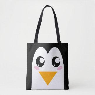 Cute Penguin | Kawaii Bird Face Tote Bag