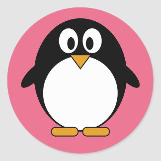 Cute Penguin Kawaii Cartoon Classic Round Sticker