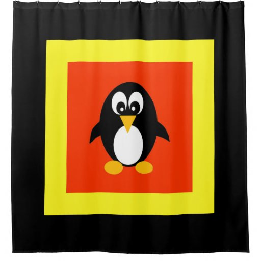 Cute Penguin Kids Shower Curtain