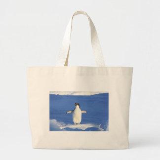 Cute Penguin Large Tote Bag