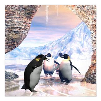 Cute penguin magnetic card