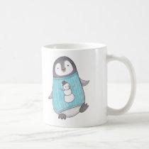 Cute Penguin Mug Funny Happy Penguin Snowman mug