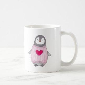 Cute Penguin Mug Personalized Penguin Heart Mug