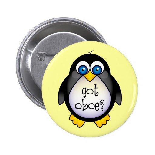 Cute Penguin Music Got Oboe Pinback Button