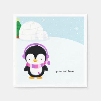Cute penguin napkin
