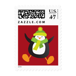 Cute Penguin Novelty Christmas Postage | Small