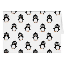 Cute penguin pattern card
