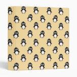 Cute penguin pattern - golden yellow vinyl binders