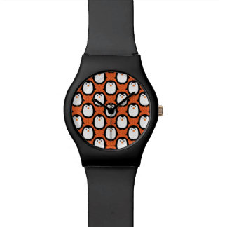 Cute Penguin Pattern Skin Watches