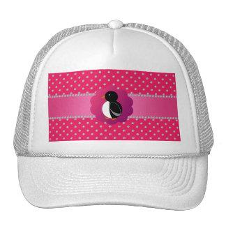 Cute penguin pink diamonds trucker hat