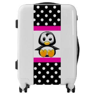 Cute Penguin & Polka Dots Luggage
