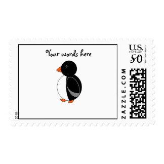 Cute penguin postage