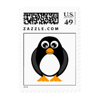 Cute Penguin Postage Stamp