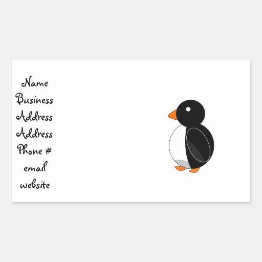 Cute penguin rectangular sticker