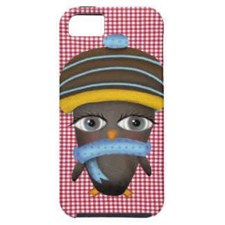 Cute Penguin Red Vichy Pattern iPhone SE/5/5s Case