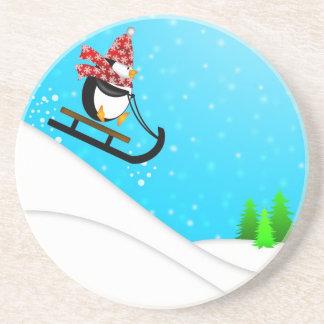 Cute Penguin Snow Sled Coaster