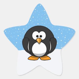 Cute Penguin Star Sticker