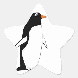 Cute Penguin. Star Sticker