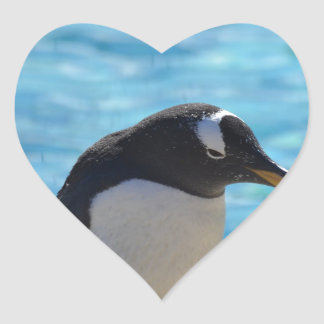 Cute Penguin Heart Stickers