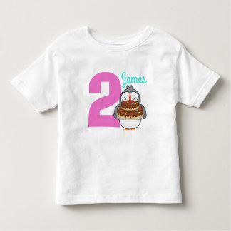 Cute Penguin Toddler Name Birthday T Shirt