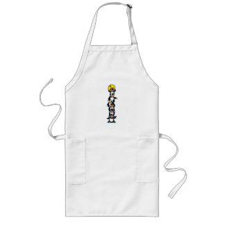 cute penguin totem stack apron