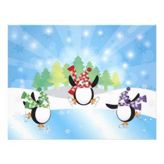 Cute Penguin Trio Figure Skate Flyer