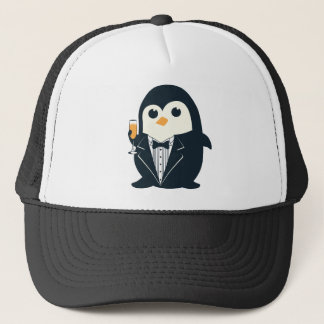 cute penguin tuxedo animal adorable trucker hat