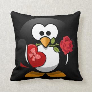 Cute Penguin Valentine Throw Pillow