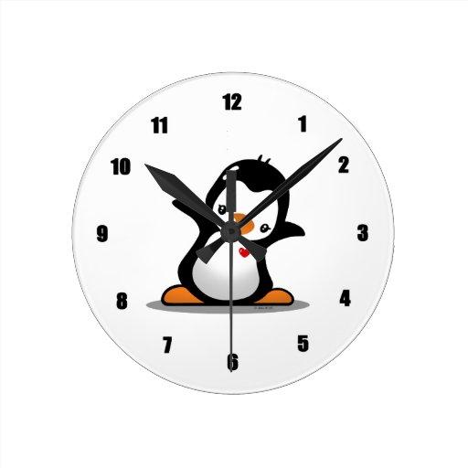 Cute Penguin Wall Clock Zazzle