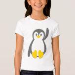 Cute penguin wave girls t-shirt