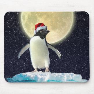 Cute Penguin & Winter Moon Christmas Mousemat Mouse Pad