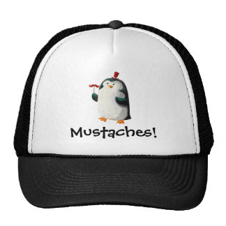 Cute Penguin with Mustaches Trucker Hat