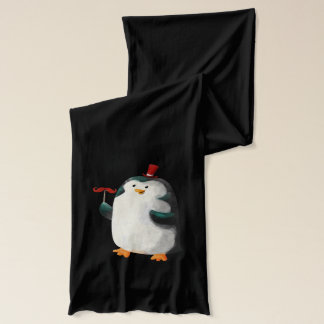 Cute Penguin with Mustaches Scarf