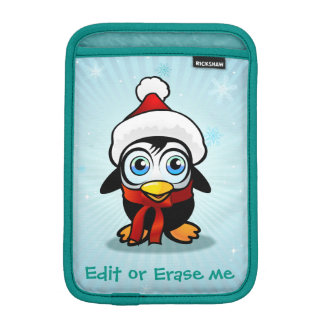 Cute Penguin With Santa Claus Hat iPad Mini Sleeve