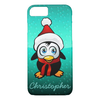 Cute Penguin With Santa Hat iPhone 8/7 Case