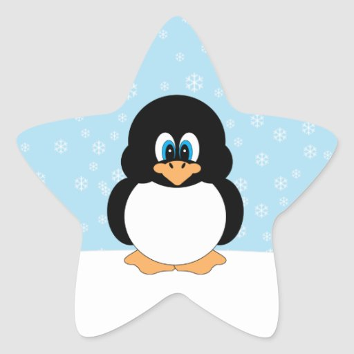 Cute Penguin with Snowflakes Stickers