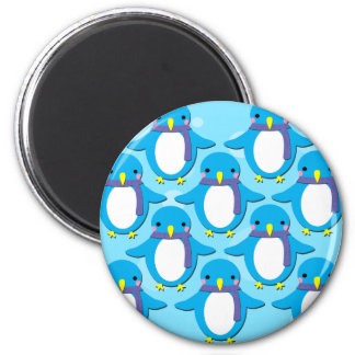 Cute Penguins 2 Inch Round Magnet