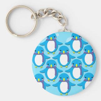 Cute Penguins Basic Round Button Keychain